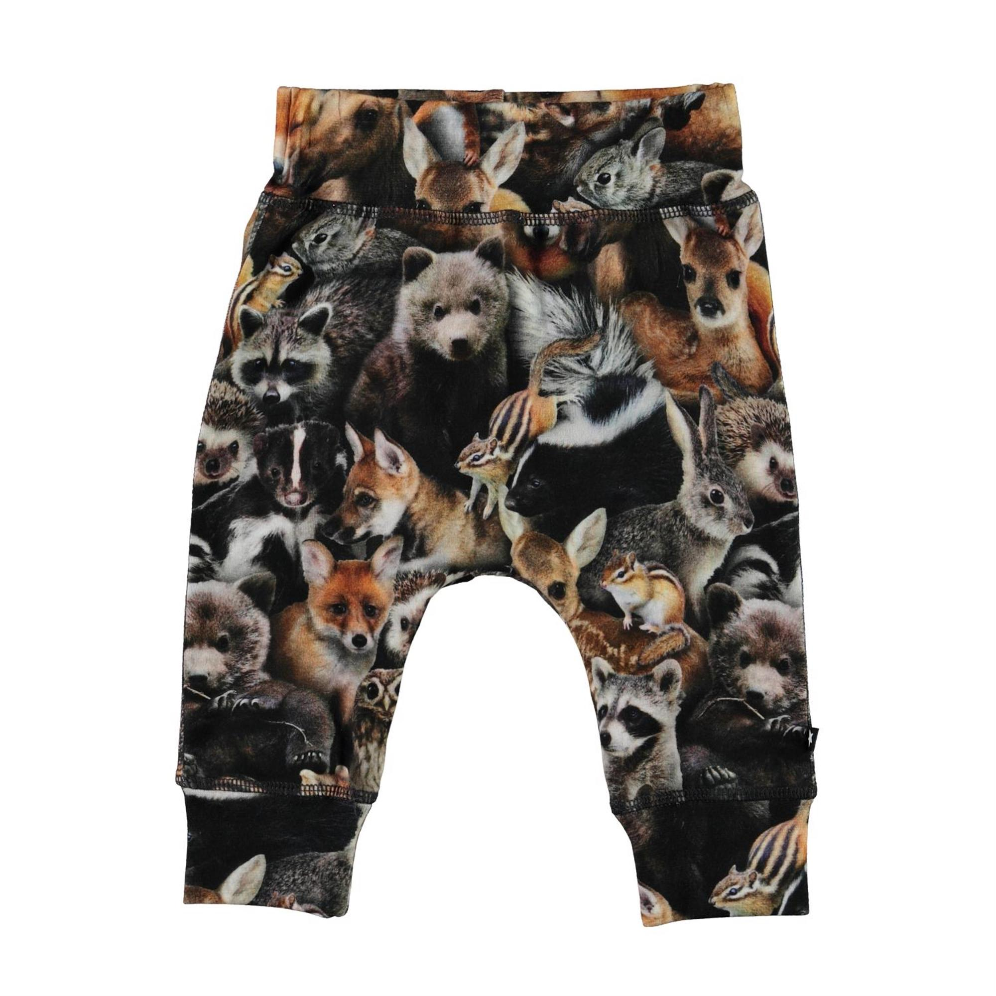Molo Sammy Soft Pants in Forest Animals