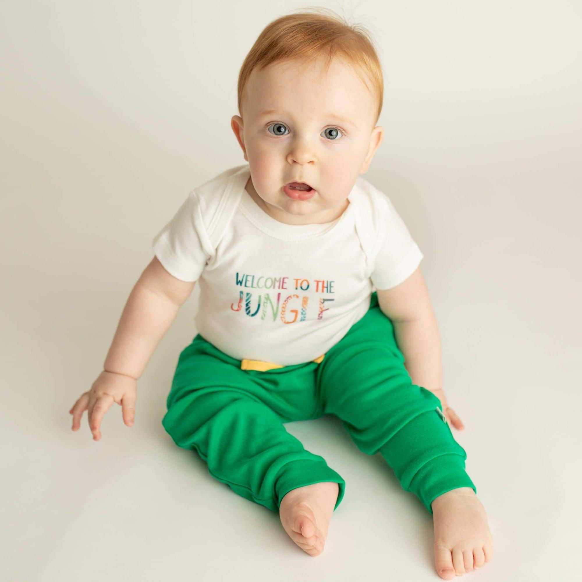 Finn and Emma Short Sleeve Bodysuit- Welcome to the Jungle