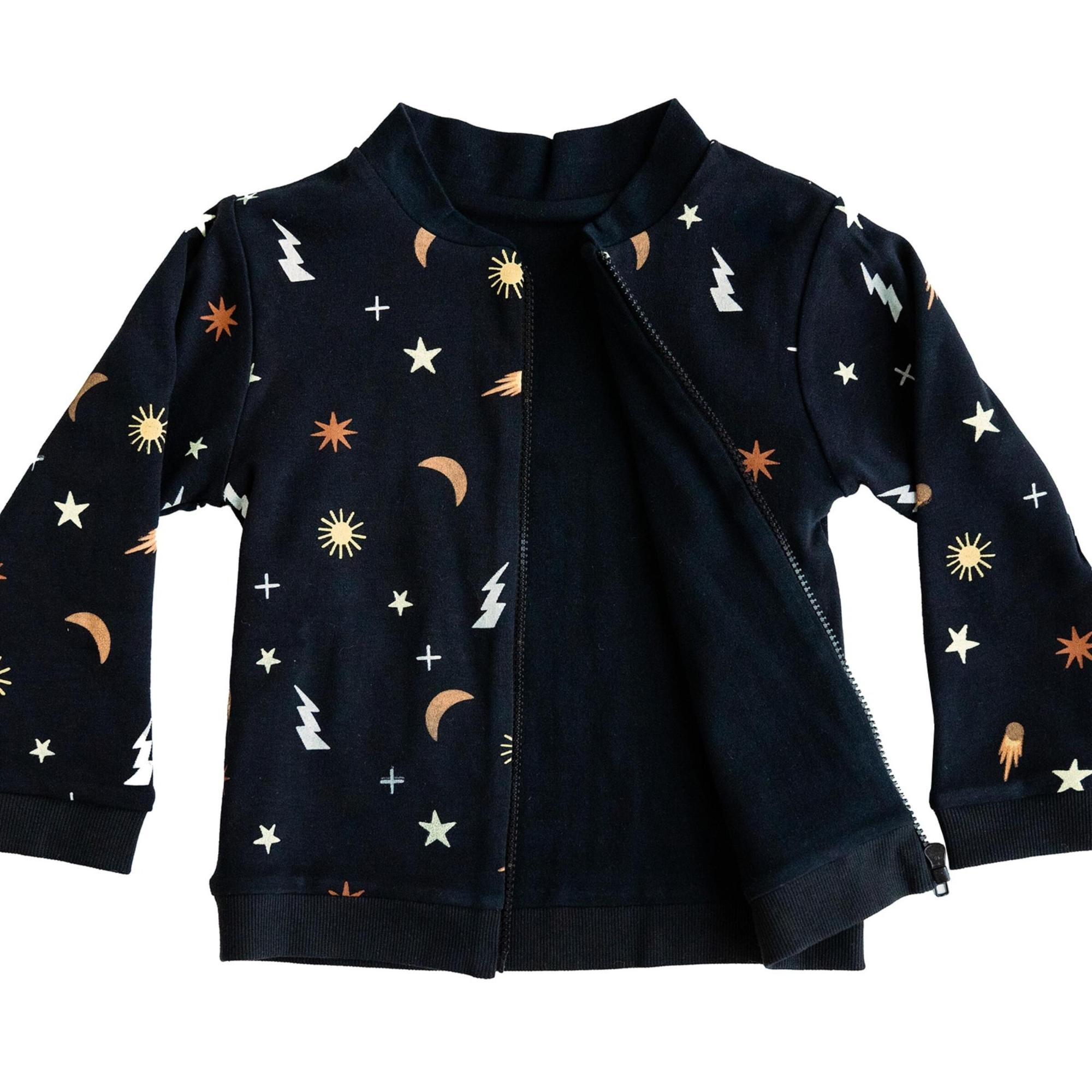 Bizz x Siss Outerspace Reversible Jacket in Black