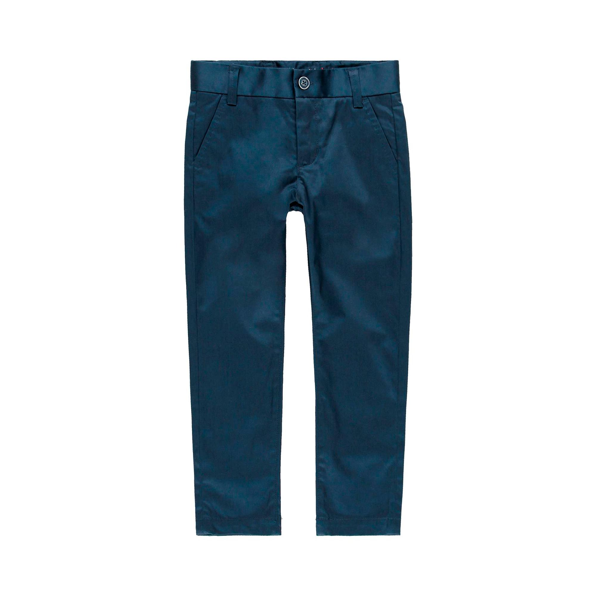 NAVY STRETCH SATIN TROUSERS