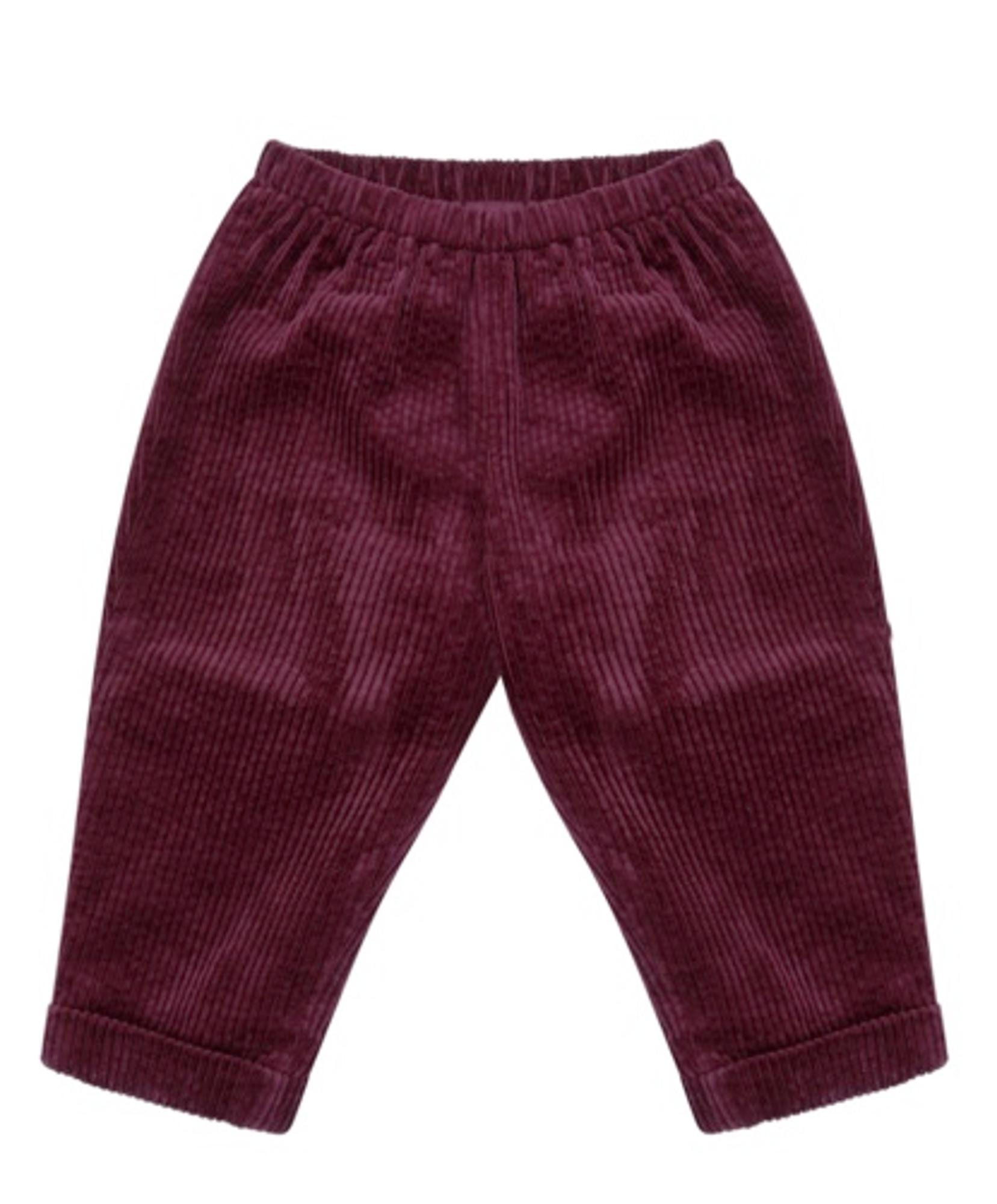 BERTIE: ELASTICATED CORDUROY TROUSERS WITH LINING